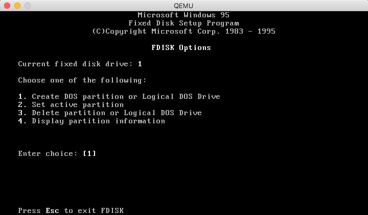 Documentation/GuestOperatingSystems/Windows95 - QEMU
